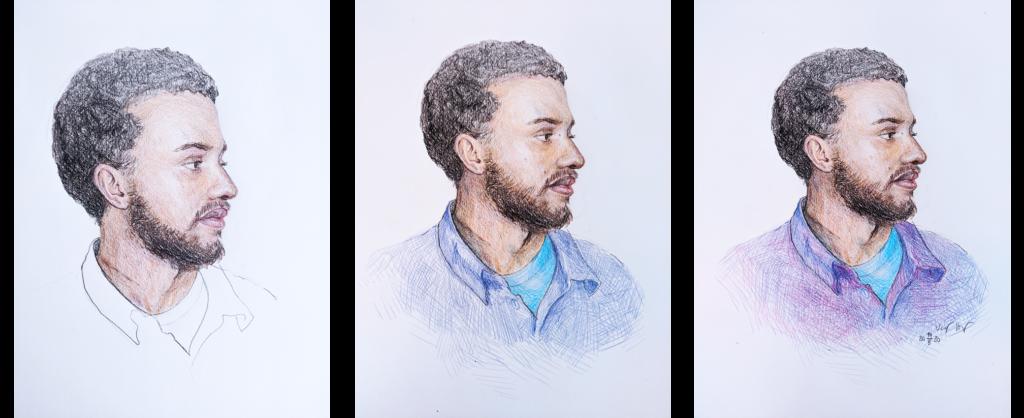 last segment of progression of the portrait