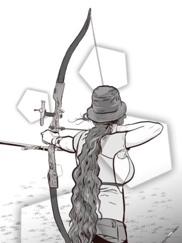 archery self-portrait