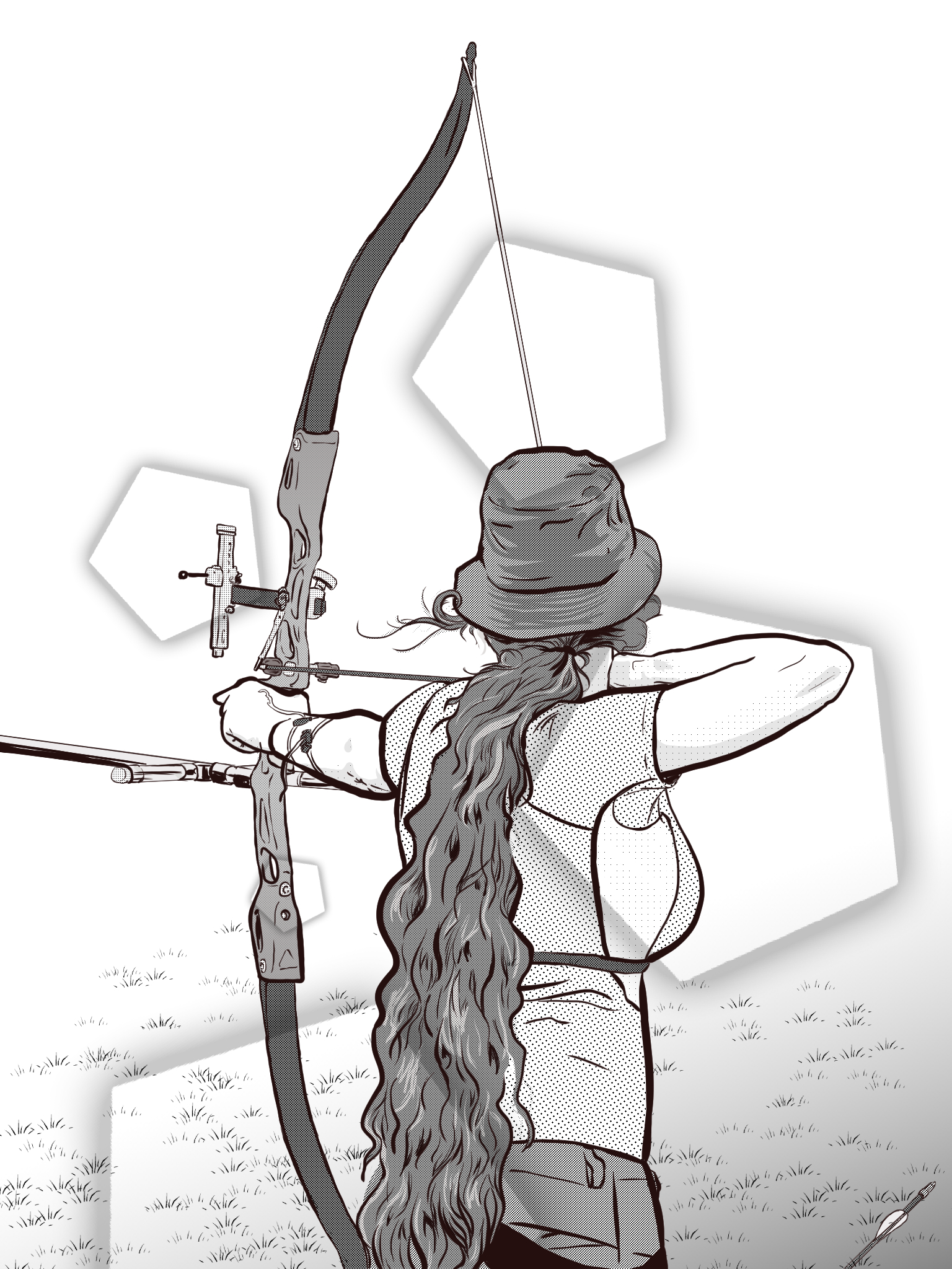 archery self-portrait