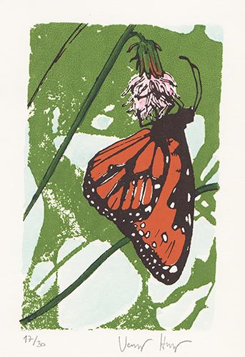 butterfly Silkscreen print